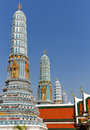Chedis or Stupas at Grand Palace Royalty Free Stock Images