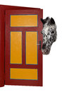 A cheeky horse is looking into a room. Royalty Free Stock Photo