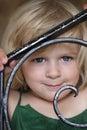 Cheeky little girl Stock Photo