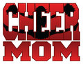 Cheer mom illustration of a design for cheerleaders moms includes a jumping cheerleader embedded in the word Stock Photography