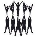 Cheer pyramid stunt Royalty Free Stock Photo
