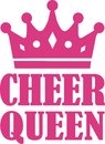 Cheer Queen with crown Royalty Free Stock Photo