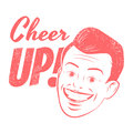 Cheer up funny cartoon illustration with Royalty Free Stock Photo