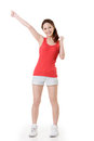 Cheerful Asian sport girl Royalty Free Stock Photography