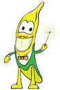 Cheerful banana character Stock Photography