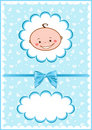 Cheerful blue babies card. Royalty Free Stock Photo