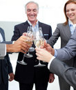 Cheerful business team celebrating a success Stock Photo