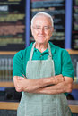 Cheerful Cafe Employee Royalty Free Stock Photo