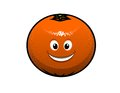 Cheerful cartoon orange fruit Royalty Free Stock Photography