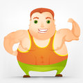 Cheerful Chubby Man Royalty Free Stock Image