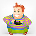 Cheerful Chubby Men Royalty Free Stock Photo