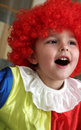 The cheerful clown Stock Images