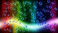 Cheerful colors of raindrops on the window Royalty Free Stock Photo