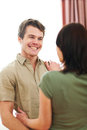 Cheerful couple in love enjoying themselves Stock Photography