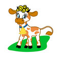 The cheerful cow Royalty Free Stock Photo