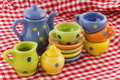 Cheerful crockery Stock Photography