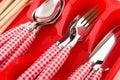 Cheerful cutlery Royalty Free Stock Photos
