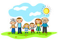 Cheerful family Royalty Free Stock Photo