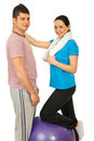 Cheerful fitness couple Stock Photo