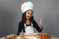 Cheerful girl chef Royalty Free Stock Photo