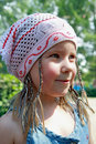 The cheerful girl in a kerchief Royalty Free Stock Image