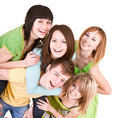 Cheerful group of young people. Royalty Free Stock Images
