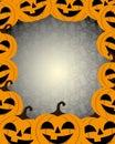 Cheerful Halloween pumpkins.