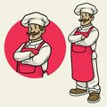 Cheerful happy chef in crossing arm pose