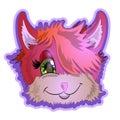 Cheerful head of a kitten