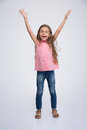 Cheerful little girl with expression emotions Royalty Free Stock Photo