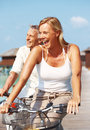 Cheerful mature couple having fun on holidays Royalty Free Stock Image