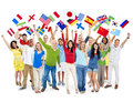 Cheerful Multi-Ethnic Cultural People Happiness Concept Royalty Free Stock Photo