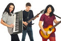 Cheerful musical band Royalty Free Stock Image