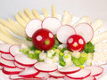 Cheerful radish mice Stock Photography