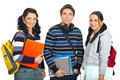 Cheerful row of students Royalty Free Stock Photo