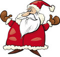 Cheerful Santa Claus Stock Photo