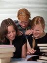 Cheerful schoolgirls Royalty Free Stock Photo