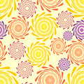 Cheerful seamless background with swirl patterns Royalty Free Stock Photo