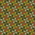 Cheerful seamless pattern with crosses design. Stock Photos