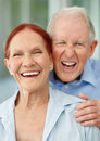 Cheerful senior couple enjoying together Stock Image