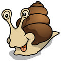 Cheerful snail cartoon illustration vector Royalty Free Stock Image