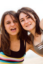Cheerful teens Stock Images