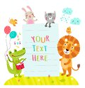 Cute Animals and form form text