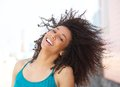 Cheerful young african american woman smiling Royalty Free Stock Photo