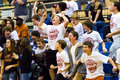 Cheering high school boys Royalty Free Stock Photo