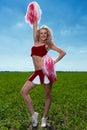 Cheerleader Royalty Free Stock Photography