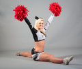 Cheerleader Doing The Splits Royalty Free Stock Photo