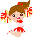 Cheerleader girl jumping Stock Photo