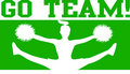Cheerleader Go Team Green/eps Royalty Free Stock Photography