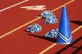 Cheerleader megaphone Royalty Free Stock Photo